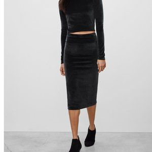 Aritzia Wilfred Free Bela Velour Pencil Skirt
